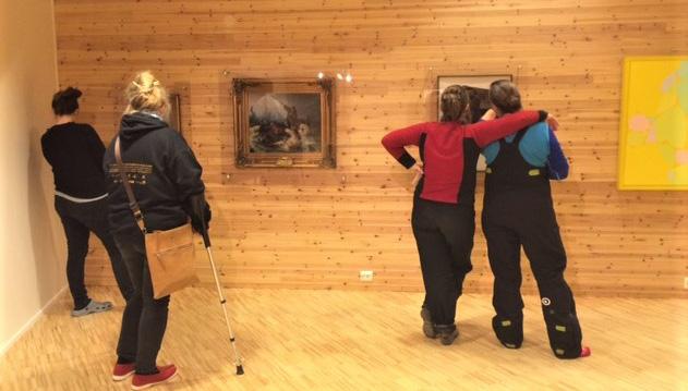 Fra åpningen av «Nordlig sfære» i Kunsthall Svalbard