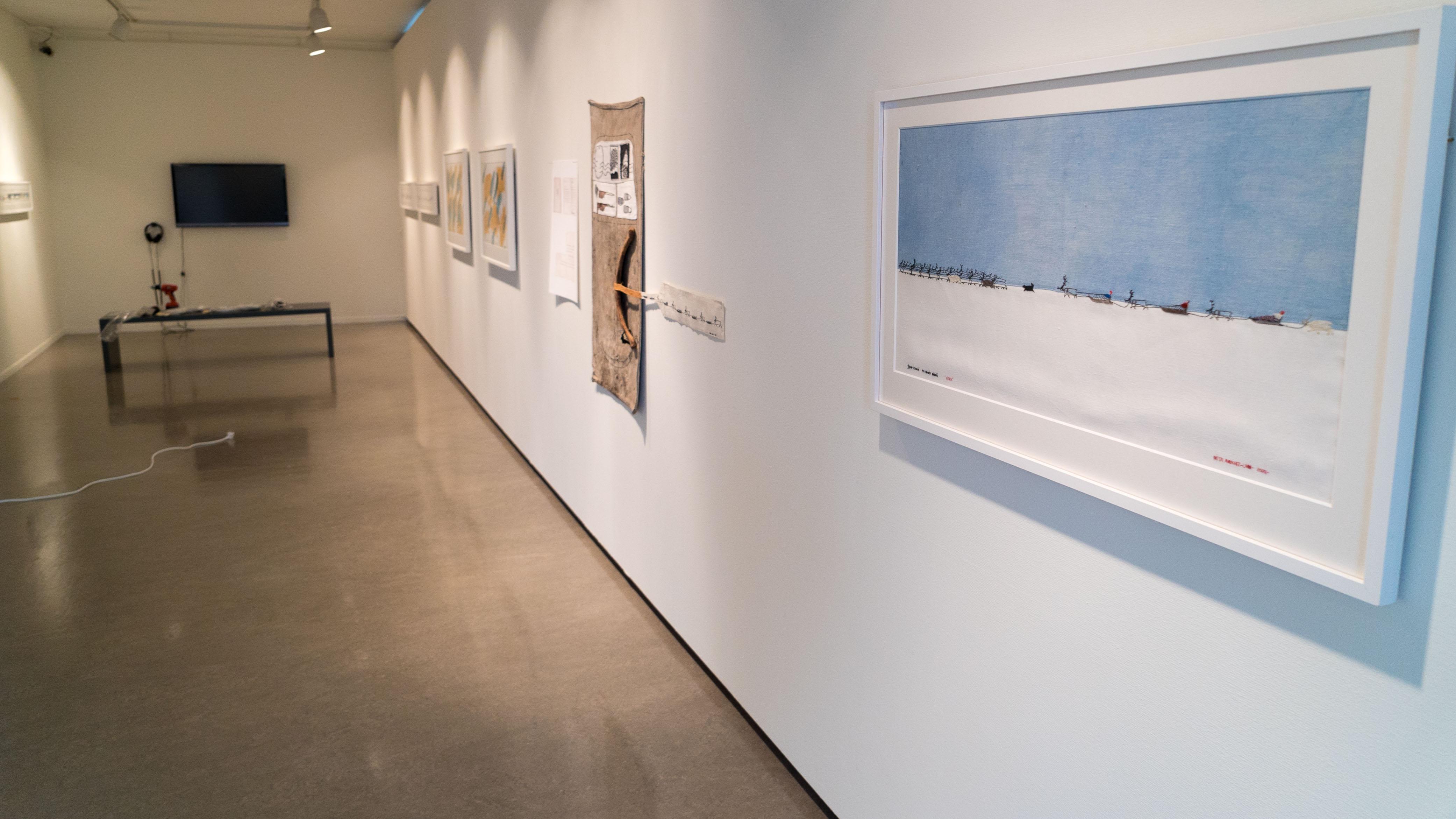 Britta Marakatt Labba er første kunstner ut i kunstnerrommet