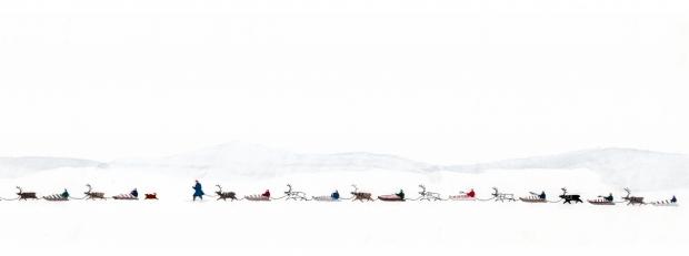 Detalj fra Britta Marakatt-Labbas «Historja». Foto: Ola Röe