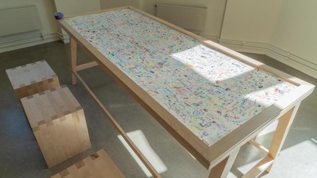 Broderibordet i Kunstner-rommet