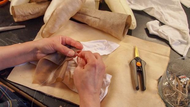 Sonya Kelliher-Combs working. Photo: Shaun Combs