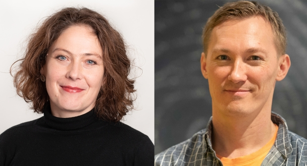 Formidlingsleder Ingrid Skovgaard og museumstekniker Øystein Oldervoll