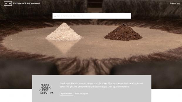 Nordnorsk Kunstmuseums forside i Digitalt Museum