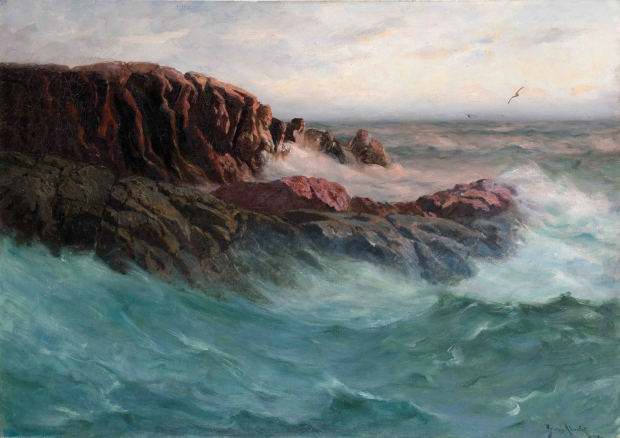 «Mot aften» av Betzy Akersloot-Berg, inspirert av den franske kysten.