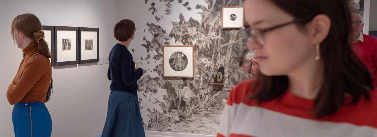 Publikum i utstillingen