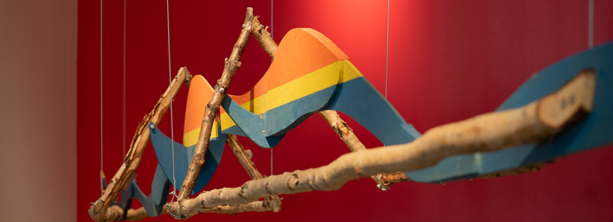 Aage Gaups Skulptur I og II i utstillingen.