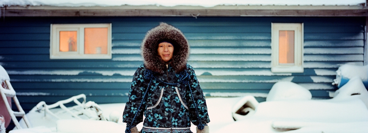 Marie Rexford photographed by Brian Adams in the series I AM INUIT