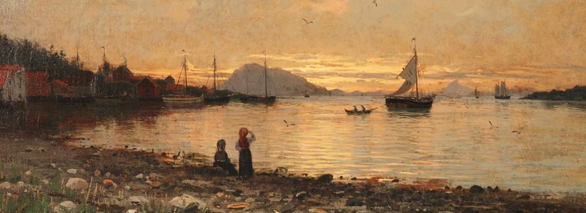 Coastal Landscape, Northern Norway by Eilert Adelsteen Normann