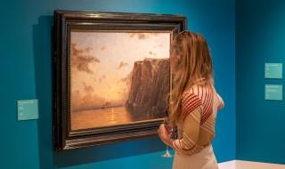 Betzy reiste mye i Nord-Norge og malte. Her er hennes versjon av Nordkapp.
