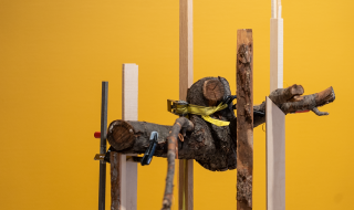 hanging-standing work by silje figenschou thoresen